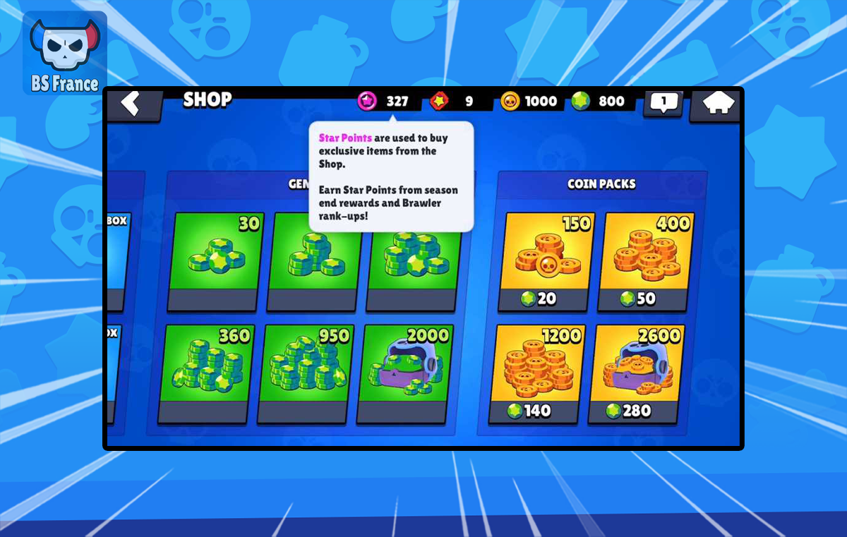 Les Points Star Brawl Stars